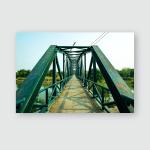 Iron Bridge Over River Sukhothai Province Poster, Pillow Case, Tumbler, Sticker, Ornament