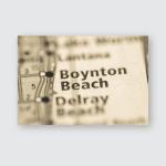 Boynton Beach Florida Usa Poster, Pillow Case, Tumbler, Sticker, Ornament