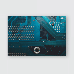 Dusty Circuit Board Abstract Background Computer Poster, Pillow Case, Tumbler, Sticker, Ornament
