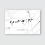 Bradninch United Kingdom On Geography Map Poster, Pillow Case, Tumbler, Sticker, Ornament