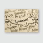 Brainard Kentucky Usa Poster, Pillow Case, Tumbler, Sticker, Ornament