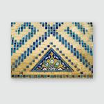 Islamic Mosaic Art Samarkand Poster, Pillow Case, Tumbler, Sticker, Ornament