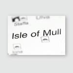Isle Mull United Kingdom On Map Poster, Pillow Case, Tumbler, Sticker, Ornament