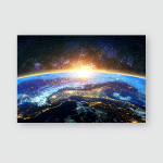 Earth Galaxy Elements This Image Furnished Poster, Pillow Case, Tumbler, Sticker, Ornament