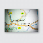 Wildwood California Usa On Map Poster, Pillow Case, Tumbler, Sticker, Ornament