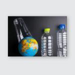 Earth World Globe Plastic Bottle Waste Poster, Pillow Case, Tumbler, Sticker, Ornament