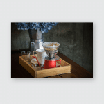 Breakfast Coffee Dripping Morning Still Life Poster, Pillow Case, Tumbler, Sticker, Ornament
