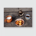 Breakfast Medieval Castle Handmade Cupcakes Ceramic Poster, Pillow Case, Tumbler, Sticker, Ornament