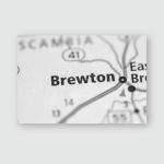 Brewton Alabama Usa Poster, Pillow Case, Tumbler, Sticker, Ornament
