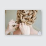 Bridal Wedding Hairstyle Tender Stylish Elegant Poster, Pillow Case, Tumbler, Sticker, Ornament
