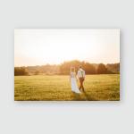 Bride Groom Go Through Field Hand Poster, Pillow Case, Tumbler, Sticker, Ornament