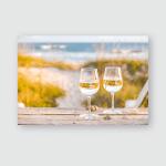 Wine Beach Sea Shells Poster, Pillow Case, Tumbler, Sticker, Ornament