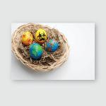 Easter Eggs Nest Poster, Pillow Case, Tumbler, Sticker, Ornament