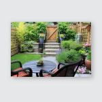Small Townhouse Garden Patio Furniture Amidst Poster, Pillow Case, Tumbler, Sticker, Ornament