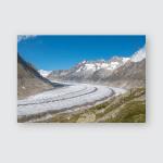 Panorama Mountains Scene Walk Through Great Poster, Pillow Case, Tumbler, Sticker, Ornament