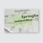 Jacksonville Illinois Usa Poster, Pillow Case, Tumbler, Sticker, Ornament