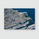 Panorama Flight Over North Sea Islands Poster, Pillow Case, Tumbler, Sticker, Ornament