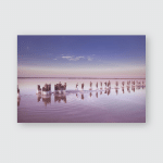 Panoramic View Colorful Pink Salt Lake Poster, Pillow Case, Tumbler, Sticker, Ornament