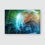 Smart City Global Network Concept Poster, Pillow Case, Tumbler, Sticker, Ornament