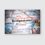 Bridgewater Canada On Map Poster, Pillow Case, Tumbler, Sticker, Ornament