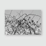 Winter Foggy Mountain Landscapes Poster, Pillow Case, Tumbler, Sticker, Ornament