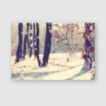 Winter Forest Instagram Filter Poster, Pillow Case, Tumbler, Sticker, Ornament