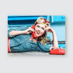 Smiling Pin Girl Talking On Vintage Poster, Pillow Case, Tumbler, Sticker, Ornament
