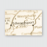 Edwardsport Indiana Usa Poster, Pillow Case, Tumbler, Sticker, Ornament