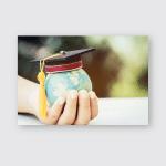 Education World Graduated Study Abroad International Poster, Pillow Case, Tumbler, Sticker, Ornament