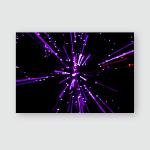 Bright Violet Bokeh Ornamental Lights Background Poster, Pillow Case, Tumbler, Sticker, Ornament