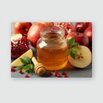 Jar Sweet Honey Selective Focus Poster, Pillow Case, Tumbler, Sticker, Ornament