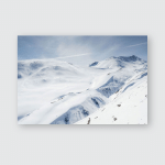 Winter Mountain Landscape Blue Sky Georgia Poster, Pillow Case, Tumbler, Sticker, Ornament
