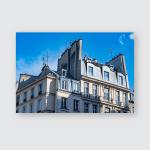 Paris Roofs Cityview Landscape Poster, Pillow Case, Tumbler, Sticker, Ornament