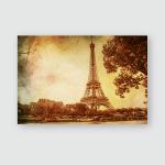 Eiffel Tower Vintage Selective Focus Poster, Pillow Case, Tumbler, Sticker, Ornament
