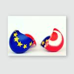 Broken Eggs Colores Europe Turkey Poster, Pillow Case, Tumbler, Sticker, Ornament