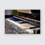 Broken Old Piano Selective Focus Point Poster, Pillow Case, Tumbler, Sticker, Ornament