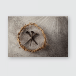 Jesus Christ Crown Thorns Three Nails Poster, Pillow Case, Tumbler, Sticker, Ornament