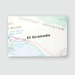 El Granada California Usa Poster, Pillow Case, Tumbler, Sticker, Ornament