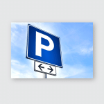 Parking Sign Showing Free Places Poster, Pillow Case, Tumbler, Sticker, Ornament