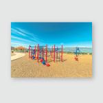 Park Vivid Childrens Playground Pavilion Picnic Poster, Pillow Case, Tumbler, Sticker, Ornament