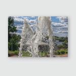 Jets Fountain Park On Hot Summer Poster, Pillow Case, Tumbler, Sticker, Ornament