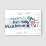 Parkdale Michigan Usa Poster, Pillow Case, Tumbler, Sticker, Ornament