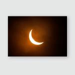 Partial Solar Eclipse Seen Uk 20Mar2015 Poster, Pillow Case, Tumbler, Sticker, Ornament