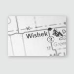 Wishek North Dakota Usa Poster, Pillow Case, Tumbler, Sticker, Ornament