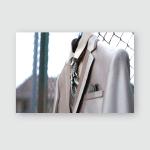 Elegant Brown Wedding Dress Poster, Pillow Case, Tumbler, Sticker, Ornament