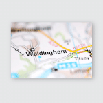 Woldingham United Kingdom On Geography Map Poster, Pillow Case, Tumbler, Sticker, Ornament