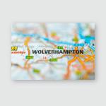 Wolverhampton On Map Poster, Pillow Case, Tumbler, Sticker, Ornament
