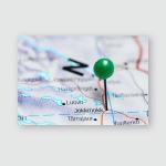 Jokkmokk Pinned On Map Sweden Poster, Pillow Case, Tumbler, Sticker, Ornament