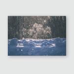 Snow Flakes Falling Blizzard White Background Poster, Pillow Case, Tumbler, Sticker, Ornament