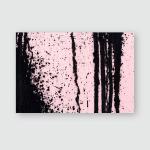Pastel Pink Concrete Wall Black Paint Poster, Pillow Case, Tumbler, Sticker, Ornament